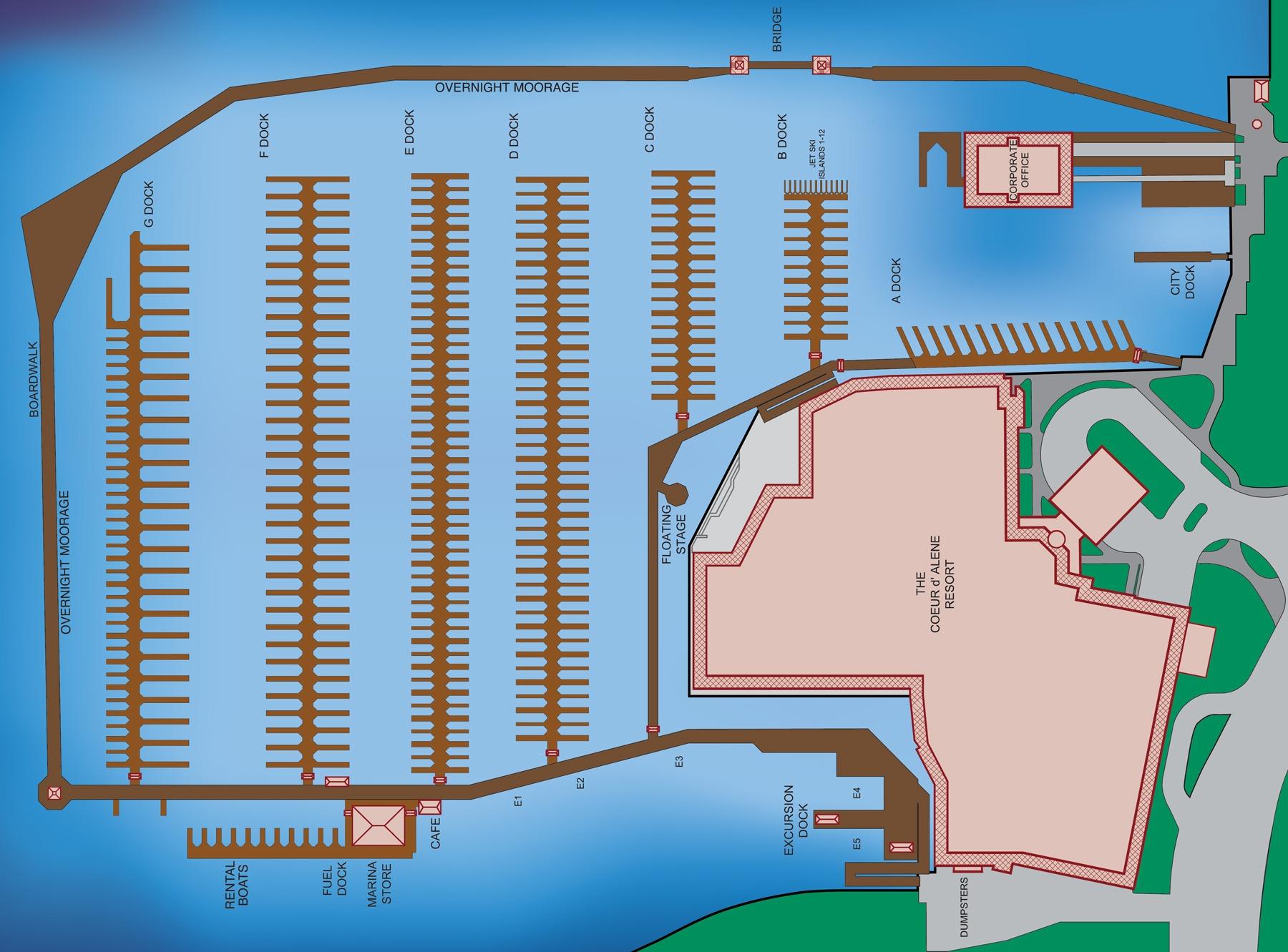 Boardwalk Marina Map